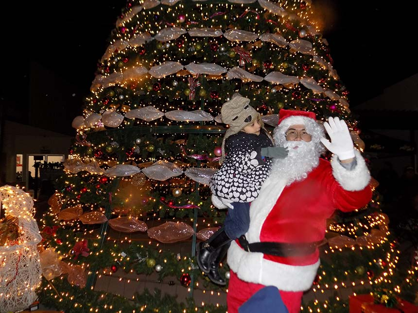 Gran Encendido del árbol navideño Plaza Andalucia 2016